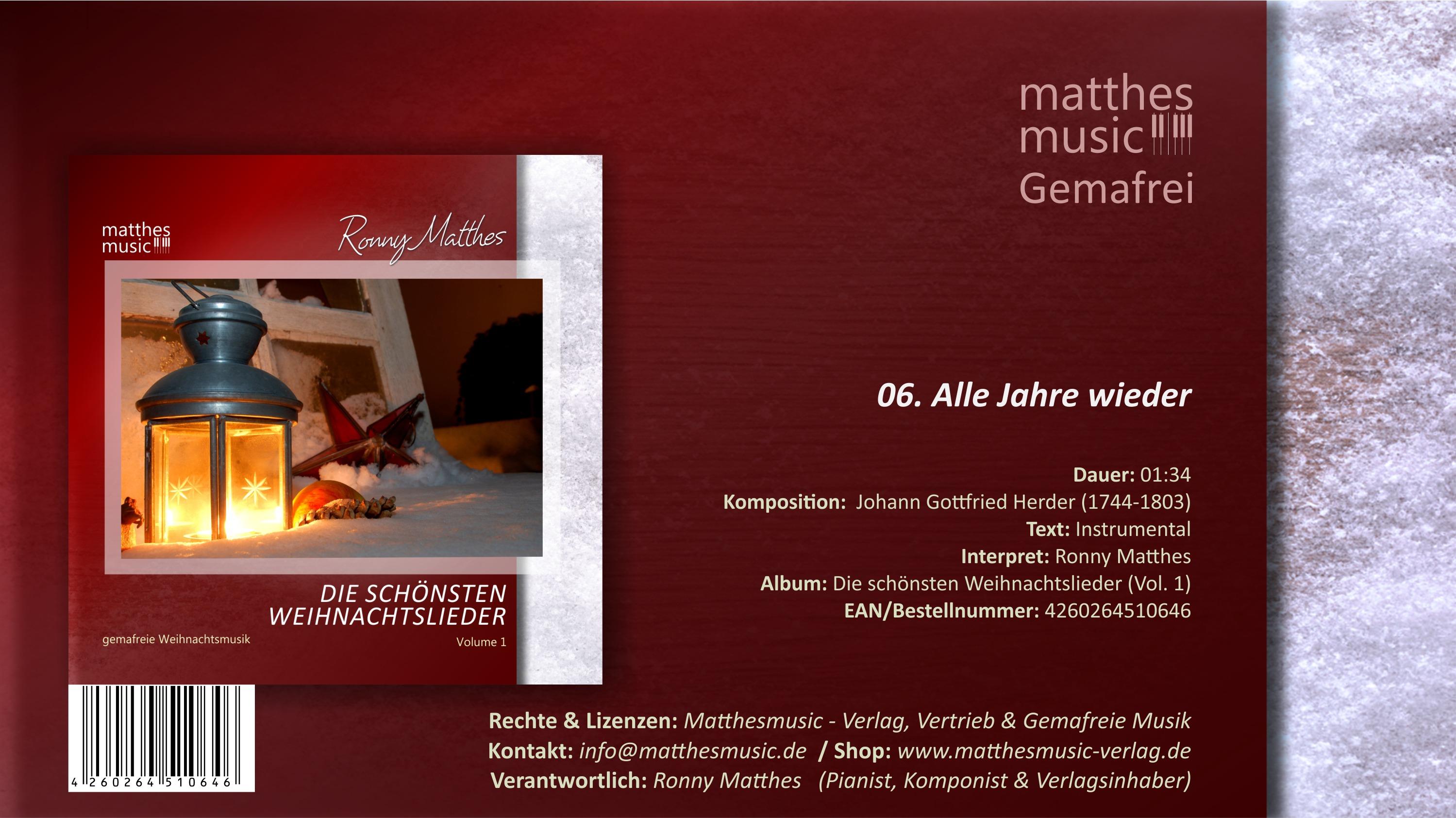 Alle Jahre wieder - deutsche Weinachtslieder (instrumental) MP3
