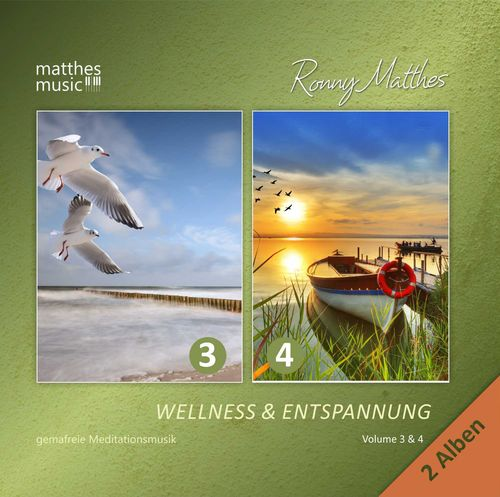 Wellness & Entspannung (3 & 4), Meditationsmusik 2 CDs