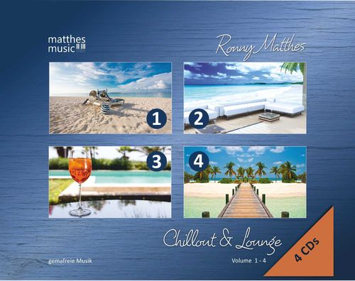 Chillout & Lounge - 4 CDs (Vol. 1 - 4) - Box-Set, inkl. MP3