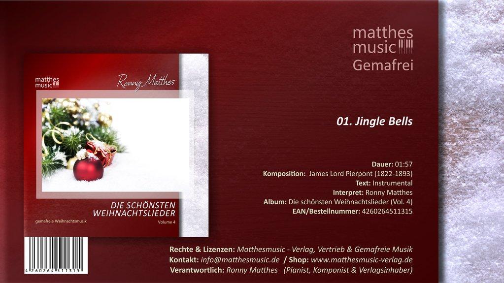 Jingle Bells - instrumental, Royalty Free | Gemafrei MP3 Download