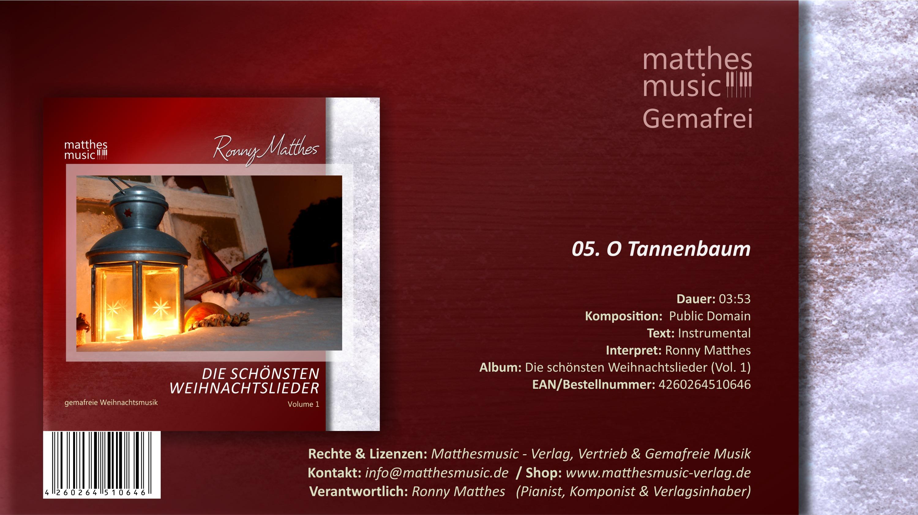 O Tannenbaum - deutsche Weihnachtslieder für Kinder zum Mitsingen