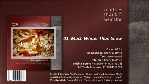 Much Whiter Than Snow - Klaviermusik