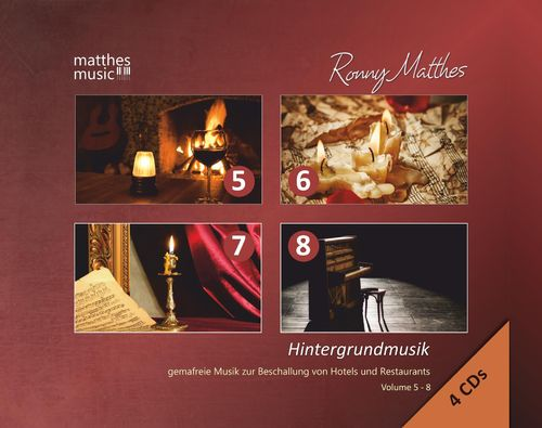 Hintergrundmusik, Vol. 5 - 8 (4 CDs in der Multi Box)