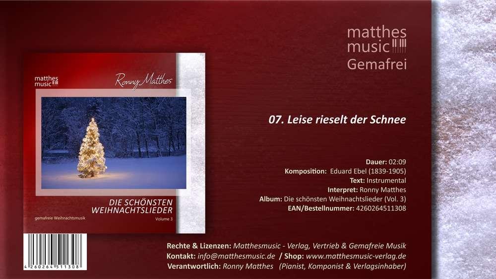 Leise rieselt der Schnee - instrumental, Eduard Ebel - MP3