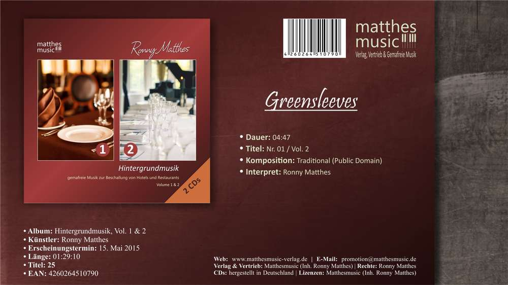 Greensleeves - MP3 Download (inkl. Youtube)